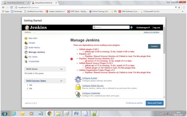 Jenkins dependency errors